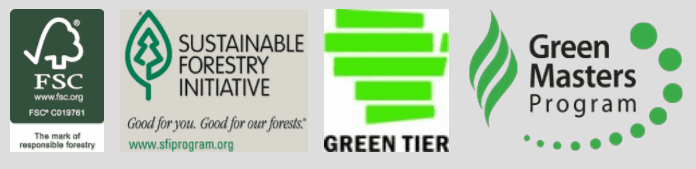 Forestry certifications for sustainable printing